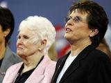 Billie Jean King and her mother Betty Moffitt in 2006