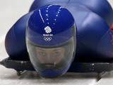Elizabeth Yarnold of Great Britain makes a practice skeleton run ahead of the Sochi 2014 Winter Olympics at the Sanki Sliding Center on February 5, 2014