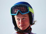 Laurenne Ross of the United States trains for the Alpine Skiing Women's Downhill ahead of the Sochi 2014 Winter Olympics at Rosa Khutor Alpine Center on February 6, 2014