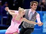 Stacey Kemp and David King of Great Britain compete in the Figure Skating Pairs Short Program during the Sochi 2014 Winter Olympics on February 6, 2014