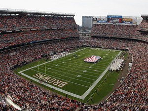 Overall view of Cleveland Browns Stadium before the game against the Cincinnati Bengals on October 14, 2012