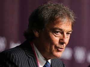 Director General of the World Anti-Doping Agency (WADA) David Howman speaks during a World Anti Doping Agency Briefing ahead of the 2012 London Olympic Games on July 25, 2012