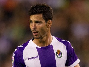 Javi Guerra of Real Valladolid CF in action during the La liga match between of Real Valladolid CF and Club Atletico de Madrid on September 21, 2013