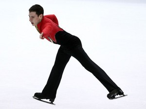 Matthew Parr of Great Britian competes in the Men's Short Program during the 2010 ISU World Figure Skating Championships on March 24, 2010