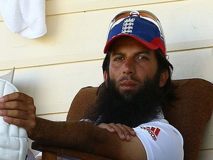 Moeen Ali of England waits to bat during the tour match between Western Australia 2nd XI and England Performance Programme at James Oval on December 12, 2013