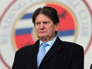 Reading Chairman Sir John Madejski during the FA Cup Fourth Round match between Reading v Sheffield United at Madejski Stadium on January 26, 2013
