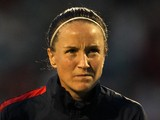 Casey Stoney of England looks on prior to the FIFA Women's World Cup 2015 Group 6 Qualifier match between England and Turkey at Fratton Park on September 26, 2013