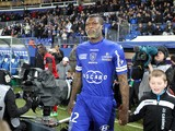 Bastia's French forward Djibril Cisse walks on the field before the French L1 football match Bastia (SCB) against Guingamp (AEG) in the Armand Cesari stadium in Bastia, in the French Mediterranean Island of Corsica, on February 1 , 2014
