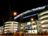 A general view outside the stadium ahead of the Barclays Premier League match between Manchester City and Chelsea at Etihad Stadium on February 3, 2014