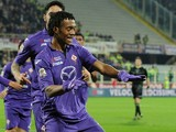 Juan Cuadado of Fiorentina celebrates after scoring the goal 1-1 during the Serie A match between ACF Fiorentina and FC Internazionale Milano at Stadio Artemio Franchi on February 15, 2014