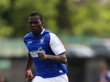 Frank Nouble of Ipswich Town in action during the pre season friendly match between Barnet and Ipswich Town at The Hive on July 20, 2013