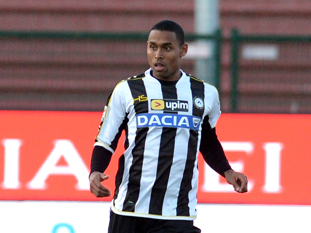 Gabriel Silva of Udinese Calcio in action during the Serie A match between Udinese Calcio and Torino FC at Stadio Friuli on December 15, 2013