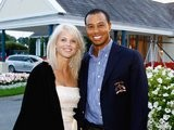 Tiger Woods and Elin Nordegren pose before the 2006 Ryder Cup on September 19, 2006.