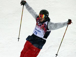 David Wise of the USA wins the gold medal during the Freestyle Skiing Men's Halfpipe at the Rosa Khutor Extreme Park on February 18, 2014