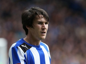 Kieran Lee of Sheffield Wednesday in action during the npower Championship match between Sheffield Wednesday and Middlesbrough at Hillsborough Stadium on May 4, 2013