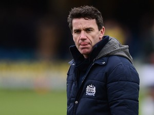 Mike Ford, head coach of Bath looks on before the Aviva Premiership match between Bath and Newcastle Falcons at the Recreation Ground on February 8, 2014