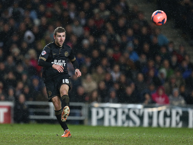 James McArthur of Wigan Athletic in action during the FA Cup with Budweiser Third Round Replay between Milton Keynes Dons and Wigan Athletic at Stadium mk on January 14, 2014