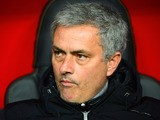Chelsea manager Jose Mourinho looks on against Galatasaray during his team's Champions League match on February 26, 2014