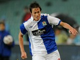 Blackburn Rovers' Josh Morris in action against AEK Athens during the Sydney 2010 Festival of Football on July 28, 2010