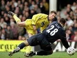 Nicky Barmby scores for Everton away at West Ham United on February 26, 2000.