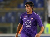 Stefan Savic of ACF Fiorentina in action during the Serie A match between SS Lazio and ACF Fiorentina at Stadio Olimpico on October 6, 2013