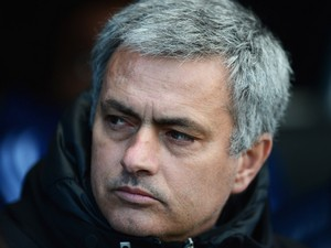 Jose Mourinho manager of Chelsea looks on prior to during the Barclays Premier League match between Fulham and Chelsea at Craven Cottage on March 1, 2014