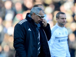 Felix Magath during the Barclays Premier League match between Fulham and Chelsea at Craven Cottage on March 1, 2014