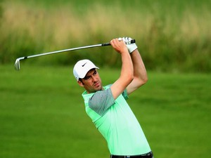 Ross Fisher of England in action during the first round of the Tshwane Open at Copperleaf Golf & Country Estate on February 27, 2014