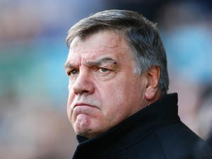 Sam Allardyce, manager of West Ham United looks on during the Barclays Premier League match between Everton and West Ham United at Goodison Park on March 1, 2014