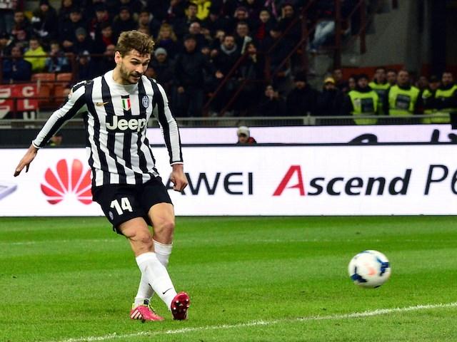 Juventus  Spanish foward Fernando Llorente scores a goal during the    Fernando Llorente Juventus Goal