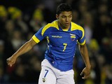 Ecuador's Jefferson Montero in action against Australia during an international friendly match on March 5, 2014