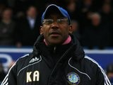 Keith Alexander stands on the touchline during Macclesfield vs. Everton on January 03, 2009.