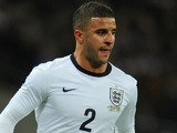 Kyle Walker of England in action during the international friendly match between England and Germany at Wembley Stadium on November 19, 2013