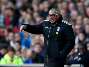Felix Magath manager of Fulham during the Barclays Premier League match between Cardiff City and Fulham at Cardiff City Stadium on March 8, 2014
