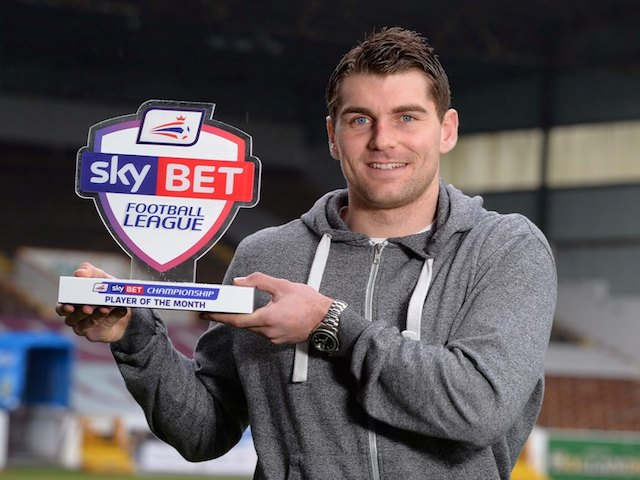 U Mole Wigan Burnley striker Sam Vokes with