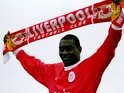 Liverpool unveil Emile Heskey as their club-record signing on March 10, 2000.