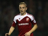 Alex Pritchard of Swindon during the Capital One Cup third round match between Swindon Town and Chelsea at County Ground on September 24, 2013