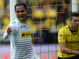Monchengladbach's Brazilian midfielder Raffael celebrates during the German first division Bundesliga football match Borussia Dortmund vs Borussia Monchengladbach in the German city of Dortmund on March 15, 2014