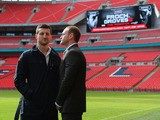 Carl Froch and George Groves go head to head after a press conference at Wembley Stadium on March 10, 2014