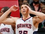 Kyle Korver #26 of the Atlanta Hawks against the Houston Rockets at Philips Arena on January 10, 2014