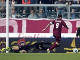Paulinho of AS Livorno Calcio scores a goal during the Serie A match between AS Livorno Calcio and Bologna FC at Stadio Armando Picchi on March 16, 2014