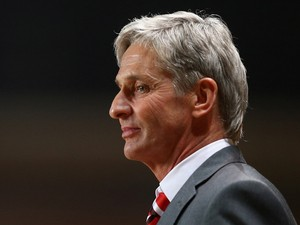 Manager Jose Riga of Charlton Athletic looks on during the Sky Bet Championship match between Charlton Athletic and Huddersfield Town at The Valley on March 12, 2014