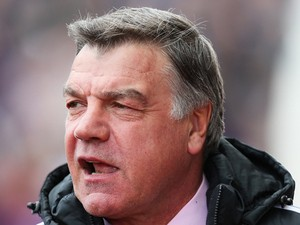 Sam Allardyce manager of West Ham United looks on prior to the Barclays Premier League match between Stoke City and West Ham United at Britannia Stadium on March 15, 2014