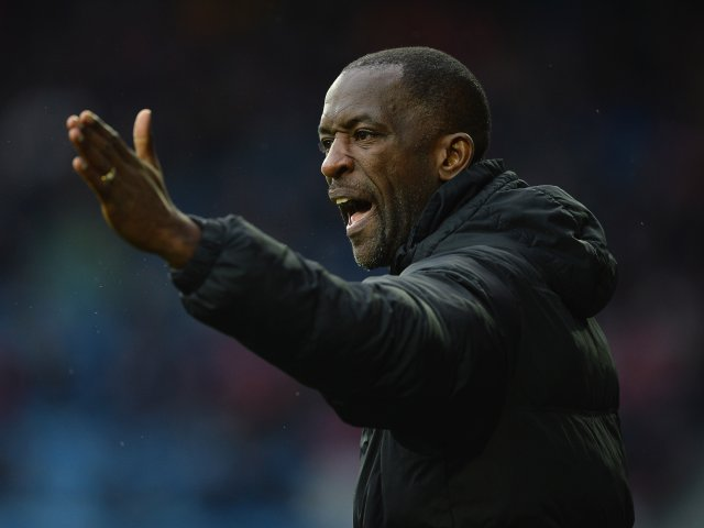Chris Powell shouts out orders on the touchline during Charlton Athletic's match with Huddersfield Town on January 25, 2014.