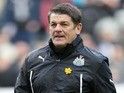 Newcastle United assistant manager John Carver during the Barclays Premier League match between Newcastle United and Crystal Palace on March 22, 2014