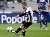Antonio Di Natale of Udinese Calcio missing a penalty kick during the Serie A match between Udinese Calcio and US Sassuolo Calcio at Stadio Friuli on March 23, 2014