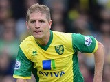 Michael Turner of Norwich City in action during the Barclays Premier League match between Norwich City and Cardiff City at Carrow Road on October 26, 2013