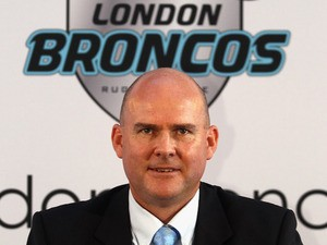 London Broncos CEO Gus Mackay poses for a photo during the London Broncos Rugby League Launch at the London Film Museum on November 1, 2011