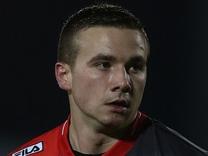 Michael Drennan of Carlisle United in action during the Sky Bet League One match between Coventry City and Carlisle United at Sixfields Stadium on February 18, 2014