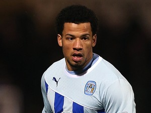 Nathan Eccleston of Coventry City in action during the Sky Bet League One match between Coventry City and Stevenage at Sixfields Stadium on March 26, 2014